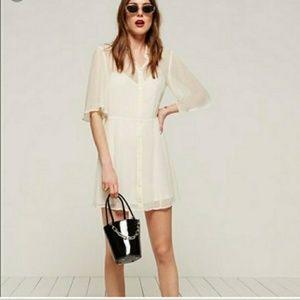 Reformation Lulu Dress in White Cream Sz 4